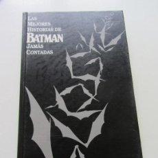 Cómics: LAS MEJORES HISTORIAS DE BATMAN JAMÁS CONTADAS, TAPA DURA, DC, EDITORIAL ZINCO C9. Lote 122555279
