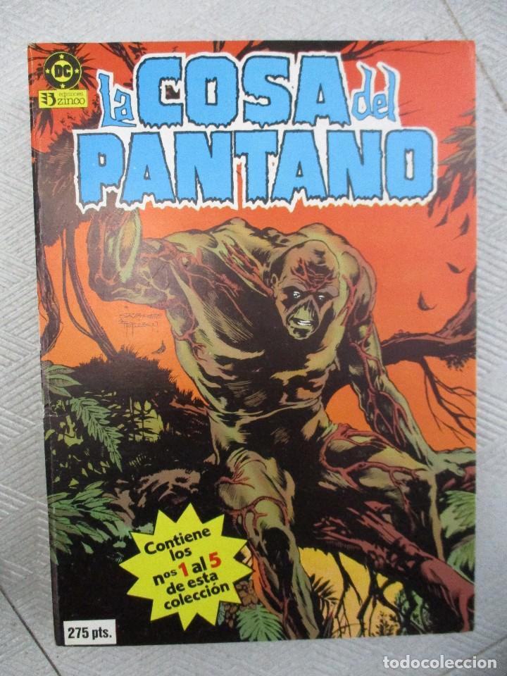 TOMO LA COSA DEL PANTANO CINCO EJEMPLARES DEL 1 AL 6 EDICIONES ZINCO (Tebeos y Comics - Zinco - Retapados)