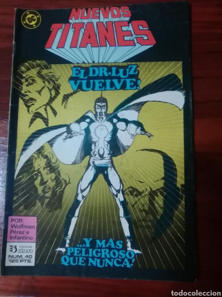 NUEVOS TITANES - 40 - VOLUMEN 1 - VOL 1 - DC COMICS - EDICIONES ZINCO - WOLFMAN (Tebeos y Comics - Zinco - Nuevos Titanes)