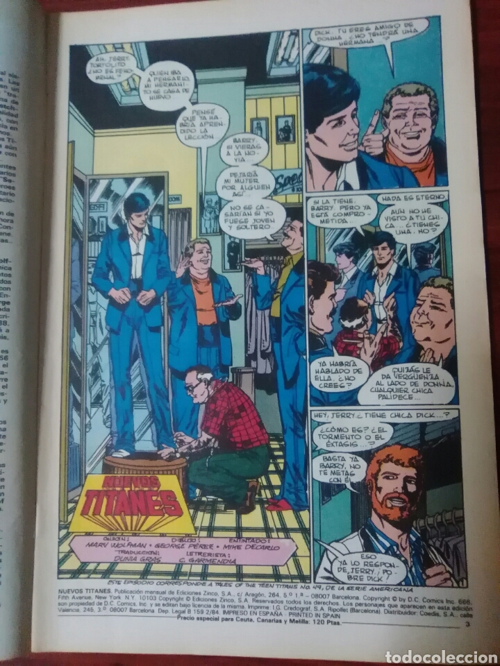 Cómics: NUEVOS TITANES - 40 - VOLUMEN 1 - VOL 1 - DC COMICS - EDICIONES ZINCO - WOLFMAN - Foto 2 - 57830344
