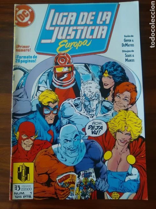 LIGA DE LA JUSTICIA - EUROPA - NUMERO 1 - DC COMICS - EDICIONES ZINCO - BUEN ESTADO (Tebeos y Comics - Zinco - Liga de la Justicia)