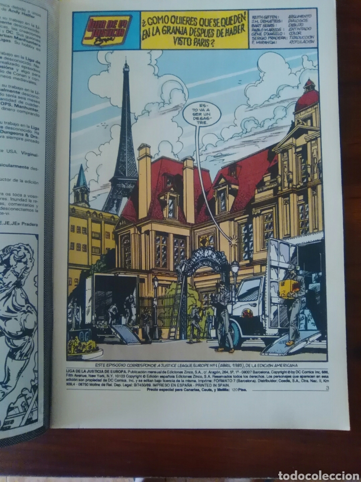 Cómics: LIGA DE LA JUSTICIA - EUROPA - NUMERO 1 - DC COMICS - EDICIONES ZINCO - BUEN ESTADO - Foto 2 - 47203748