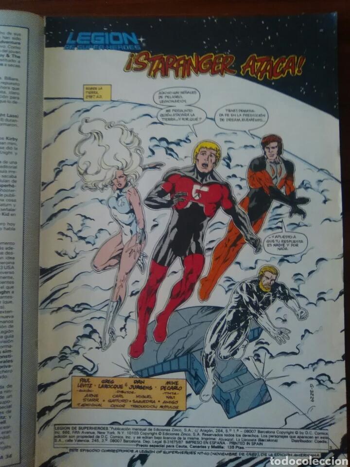Cómics: LEGIÓN DE SÚPER-HÉROES - 9 - EDICIONES ZINCO - DC COMICS - Foto 2 - 65820466