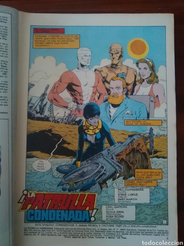 Cómics: PATRULLA CONDENADA - NÚMERO 2 - VOL 1 - DC COMICS - ZINCO - Foto 2 - 68129237