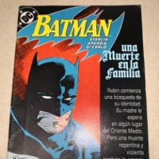 Cómics: BATMAN 1 UNA MUERTE EN FAMILIA. Lote 124472623