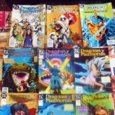 Cómics: LOTE DE 9 NUMEROS DE COMIC - DRAGONES Y MAZMORRAS -1990 EDICIONES ZINCO Nº 1,2, Y DEL 7 AL 12. Lote 125916267