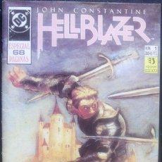 Cómics: JOHN CONSTANTINE HELLBLAZER Nº 1 ESPECIAL DE 68 PÁGINAS JAMIE DELANO & BRYAN TALBOT EDITORIAL ZINCO. Lote 126008355