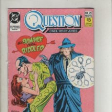 Cómics: QUESTION-DC-ZINCO-AÑO 1987-COLOR-FORMATO GRAPA-Nº 26-ACERTIJOS. Lote 127113331