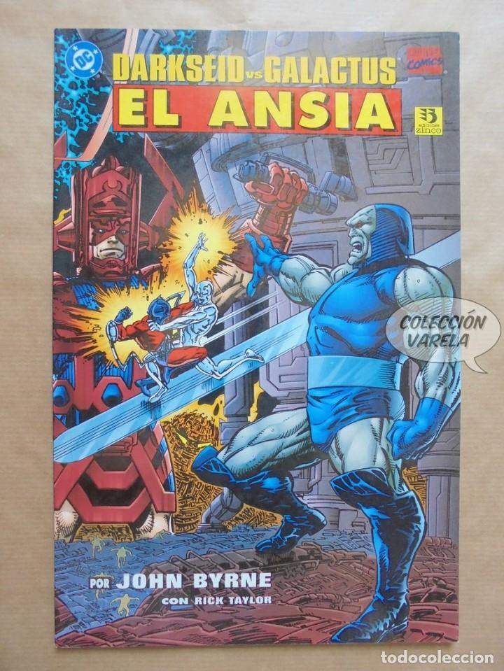 DARKSEID GALACTUS - EL ANSIA - MARVEL DC CROSSOVER - JOHN BYRNE - JMV (Tebeos y Comics - Zinco - Prestiges y Tomos)