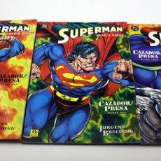 Cómics: SUPERMAN - CAZADOR / PRESA - COLECCION COMPLETA - 3 TOMOS - ZINCO - JURGENS BREEDING. Lote 127507951