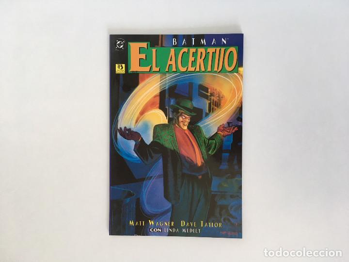 BATMAN: EL ACERTIJO DE MATT WAGNER Y DAVE TAYLOR. EDICIONES ZINCO. (Tebeos y Comics - Zinco - Batman)