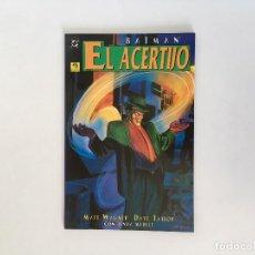 Cómics: BATMAN: EL ACERTIJO DE MATT WAGNER Y DAVE TAYLOR. EDICIONES ZINCO.. Lote 127958311
