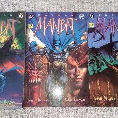 Cómics: BATMAN MANBAT SERIE COMPLETA 3 TOMOS EDICIONES ZINCO. Lote 128168743