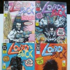Cómics: LOBO'S BACK Nº 1 AL 4 COLECCIÓN COMPLETA (ZINCO). Lote 128240747