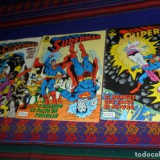 Cómics: SUPERMAN VOL. 1 NºS 9 Y 10. ZINCO 1984 95 PTS. REGALO VOL. 2 Nº 19 ZINCO 1987. 140 PTS. BUEN ESTADO.. Lote 128338419