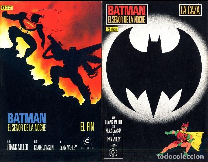 Cómics: BATMAN EL SEÑOR DE LA NOCHE COMPLETA 4 PRESTIGIO. FRANK MILLER PREMIO HAXTUR CAJA 74-C,2O C,22+ BIBL - Foto 3 - 48885573