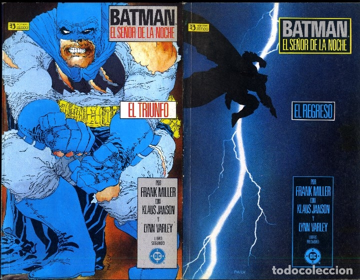 Cómics: BATMAN EL SEÑOR DE LA NOCHE COMPLETA 4 PRESTIGIO. FRANK MILLER PREMIO HAXTUR CAJA 74-C,2O C,22+ BIBL - Foto 2 - 48885573