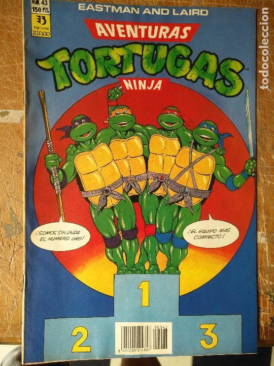 LAS AVENTURAS DE LA TORTUGAS NINJA - ZINCO EDICIONES - IMPRESO ESPAÑA AÑOS 90 - NUMERO N 43 (Tebeos y Comics - Zinco - Otros)