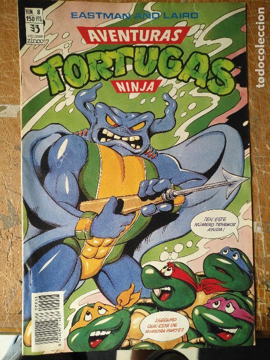 LAS AVENTURAS DE LA TORTUGAS NINJA - ZINCO EDICIONES - IMPRESO ESPAÑA AÑOS 90 - NUMERO N 8 (Tebeos y Comics - Zinco - Otros)