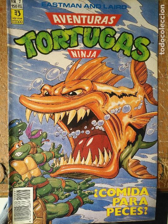LAS AVENTURAS DE LA TORTUGAS NINJA - ZINCO EDICIONES - IMPRESO ESPAÑA AÑOS 90 - NUMERO N 7 (Tebeos y Comics - Zinco - Otros)