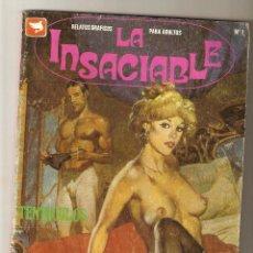 Cómics: LA INSACIABLE Nº 1 - RELATOS PARA ADULTOS - COMIC EROTICO - EDICIONES ZINCO - 1991 - 66 PP - 2. Lote 173640578