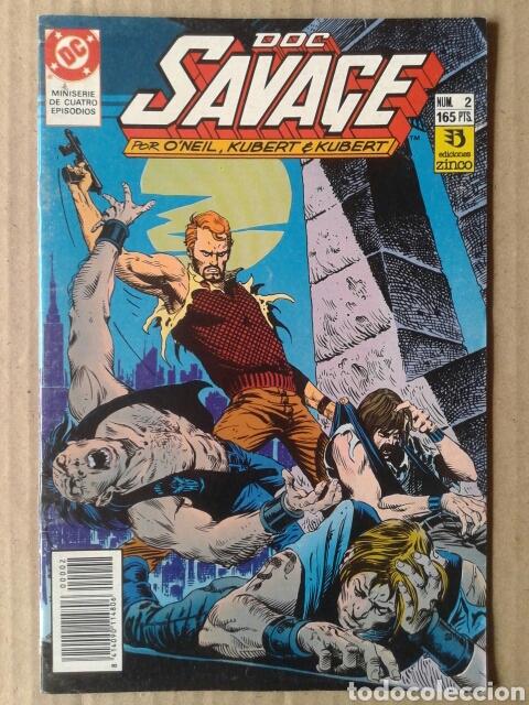 Cómics: Lote Doc Savage. Miniserie completa, números 1-2-3-4 (Ediciones Zinco, 1990). Por ONeil y Kubert. - Foto 2 - 130327320