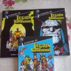 Cómics: CLASICOS DC - LA LEGION DE SUPERHEROES LOTE DE LOS NUMEROS 1-2-3. PERFECTO ESTADO. Lote 130397758