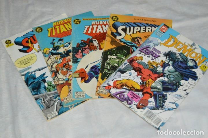 LOTE DE 5 TEBEOS / COMICS - DEMON - SUPERMAN - NUEVOS TITANES - EDICIONES ZINCO - ENVÍO 24H (Tebeos y Comics - Zinco - Superman)