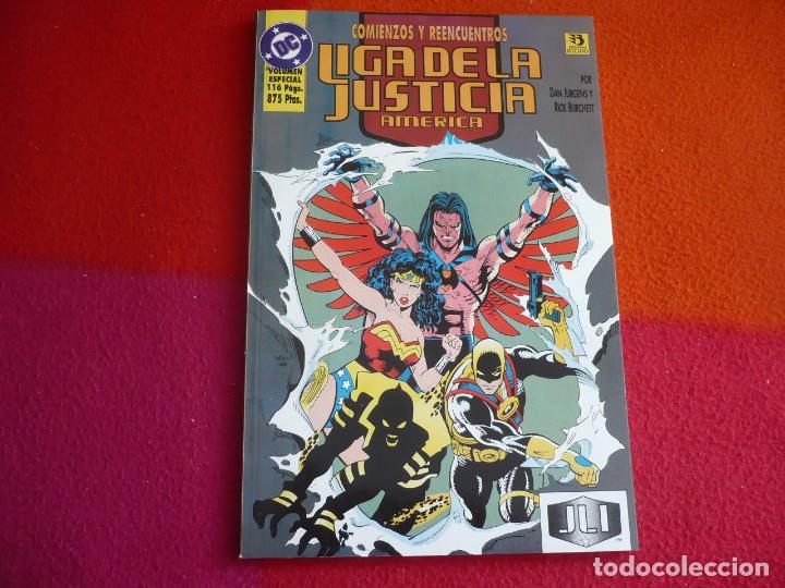 LA LIGA DE LA JUSTICIA AMERICA 3 COMIENZOS Y REENCUENTROS ( JURGENS ) ¡MUY BUEN ESTADO! ZINCO DC (Tebeos y Comics - Zinco - Liga de la Justicia)