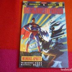 Cómics: LOS MEJORES DEL MUNDO 1 MUNDOS APARTE ( GIBBONS RUDE ) ¡MUY BUEN ESTADO! ZINCO DC SUPERMAN BATMAN. Lote 130658363