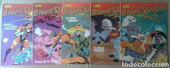 LOTE BRAVESTARR: EL JUSTICIERO CÓSMICO. COLECCIÓN COMPLETA. NÚMEROS 1-2-3-4-5. EDICIONES ZINCO, 1988 (Tebeos y Comics - Zinco - Otros)
