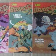 Cómics: LOTE BRAVESTARR: EL JUSTICIERO CÓSMICO. COLECCIÓN COMPLETA. NÚMEROS 1-2-3-4-5. EDICIONES ZINCO, 1988. Lote 130755912