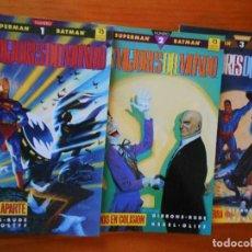 Cómics: SUPERMAN - BATMAN: LOS MEJORES DEL MUNDO (COMPLETA) 3 TOMOS (EDICIONES ZINCO). Lote 130995016