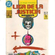 Cómics: LIGA DE LA JUSTICIA AMERICA. Nº 52. DC/ZINCO (C/A58). Lote 131148804