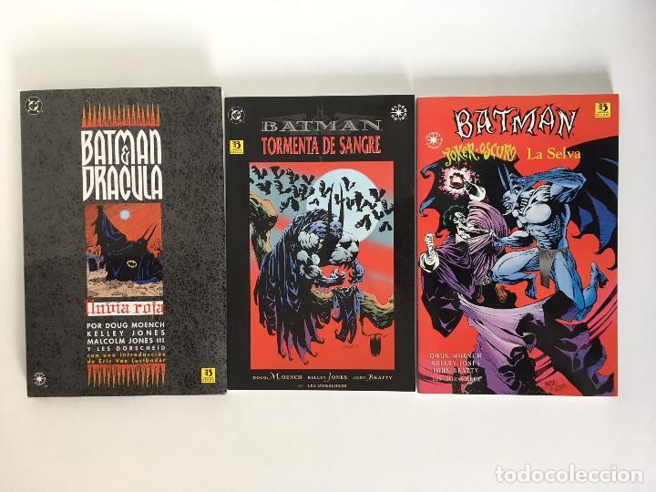 BATMAN: LLUVIA ROJA, BATMAN:TORMENTA DE SANGRE Y BATMAN: JOKER OSCURO / LA SELVA DE MOENCH Y JONES. (Tebeos y Comics - Zinco - Batman)