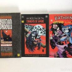 Cómics: BATMAN: LLUVIA ROJA, BATMAN:TORMENTA DE SANGRE Y BATMAN: JOKER OSCURO / LA SELVA DE MOENCH Y JONES.. Lote 131704342