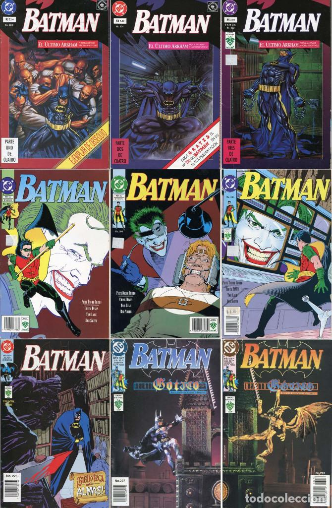 LOTE DE 9 COMICS DE BATMAN (EDITORIAL VID COMICS) (Tebeos y Comics - Zinco - Batman)