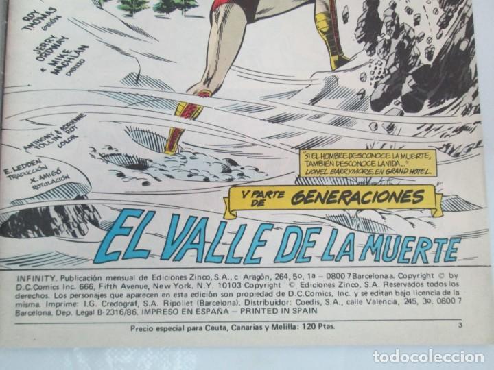 Cómics: INFINITY INC. EDICIONES ZINCO. Nº DEL 1 AL 9. 1986. COMICS - Foto 21 - 132899870