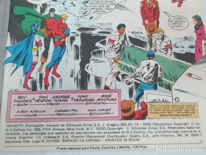 Cómics: INFINITY INC. EDICIONES ZINCO. Nº DEL 1 AL 9. 1986. COMICS - Foto 52 - 132899870