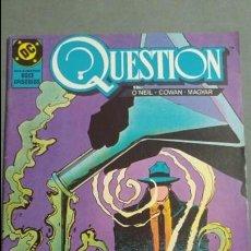 Cómics: QUESTION N° 6 COMICS DC ESTADO MUY BUENO PRECIO NEGOCIABLE POSIBILIDAD SUELTOS. Lote 133881330