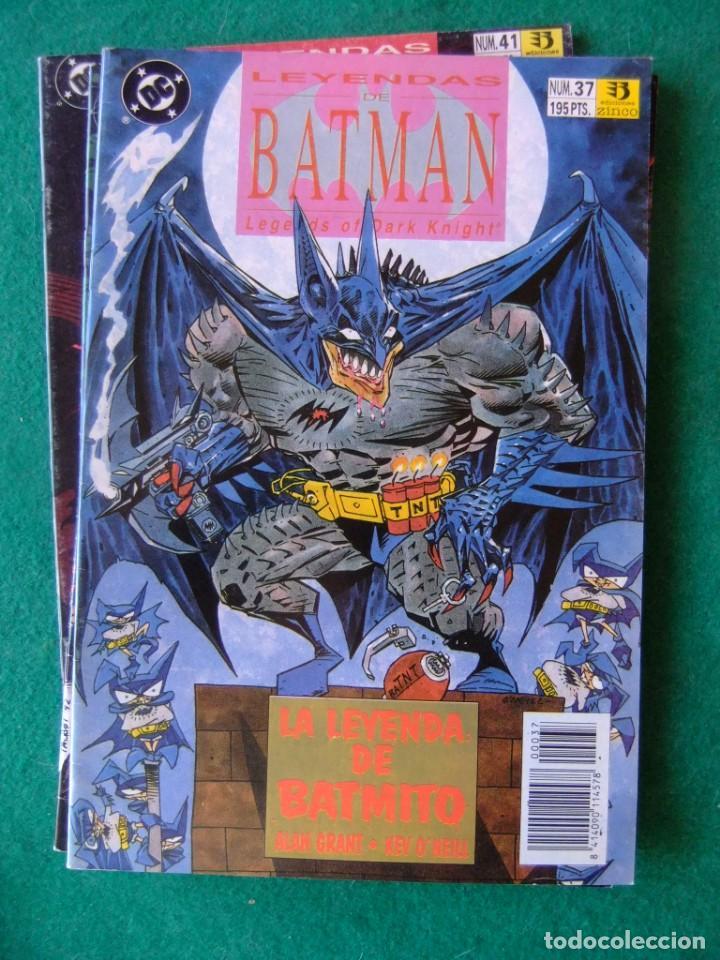 Cómics: LEYENDAS DE BATMAN ZINCO LOTE DE 10 NUMEROS - Foto 5 - 134273934