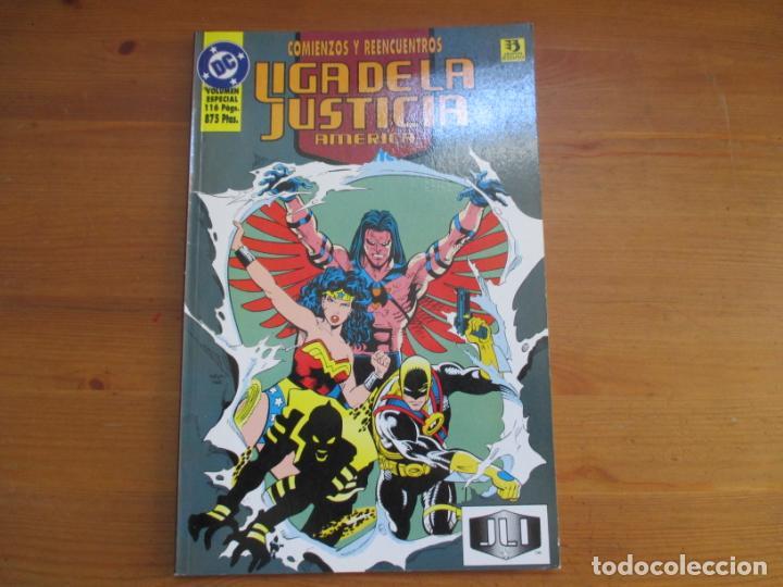 LIGA DE LA JUSTICIA AMÉRICA. COMIENZOS Y REENCUENTROS. VOLUMEN ESPECIAL. DAN JURGENS. ZINCO (Tebeos y Comics - Zinco - Liga de la Justicia)
