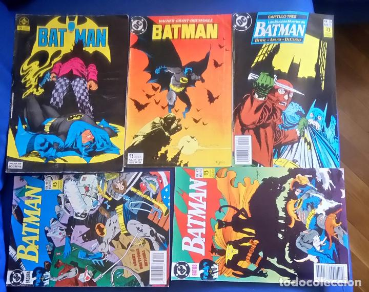 LOTE 5 COMICS DE BATMAN 16,27,35,47,49 (Tebeos y Comics - Zinco - Batman)