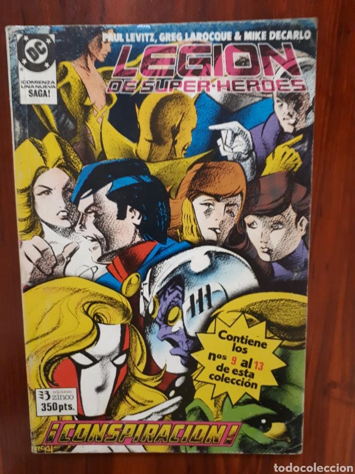 LEGION DE SUPER-HEROES - DC COMICS - EDICIONES ZINCO - RETAPADO - 5 NUMEROS - DIFICIL (Tebeos y Comics - Zinco - Retapados)