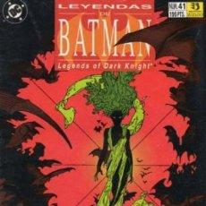 Cómics: LEYENDAS DE BATMAN Nº 41 - ZINCO - MUY BUEN ESTADO. Lote 136195982