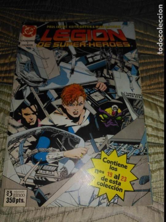 LEGIÓN DE SUPERHEROES RETAPADO CON NÚMEROS 19 AL 23. (Tebeos y Comics - Zinco - Retapados)