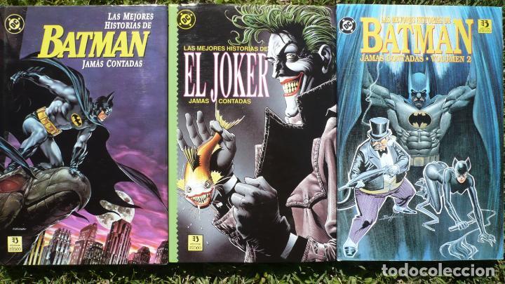 LOTE LAS MEJORES HISTORIAS DE BATMAN / EL JOKER JAMÁS CONTADAS. EDICIONES ZINCO. (Tebeos y Comics - Zinco - Batman)