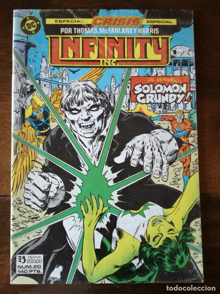 3 COMIC CRISIS INFINITY INC 19-20-21 GRUPO ZINCO DC 1986 NUEVO (Tebeos y Comics - Zinco - Infinity Inc)