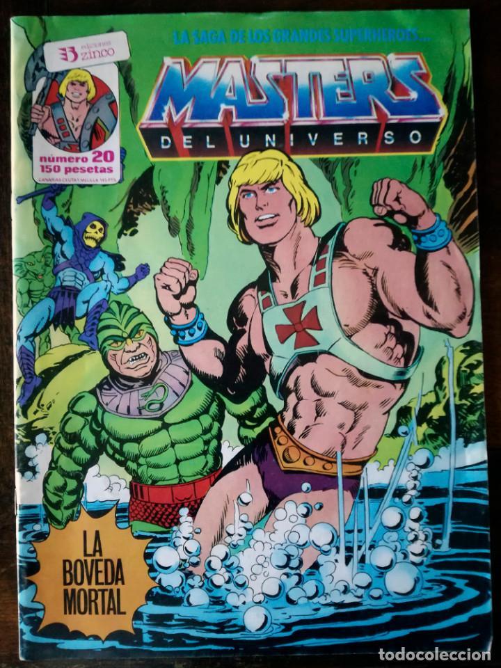 Cómics: 2 COMIC MASTERS DEL UNIVERSO Nº 3-20-ZINCO 1986 - Foto 2 - 139255570
