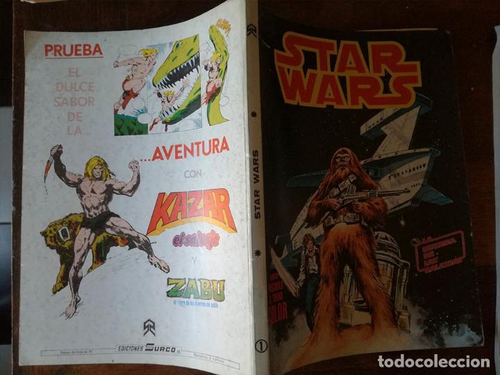 STAR WARS Nº 1-2-3-4-5 Y QUE HA SIDO DE JABBA EL HUT? VÉRTICE RETAPADO SURCO COLOR-1983 (Tebeos y Comics - Zinco - Otros)